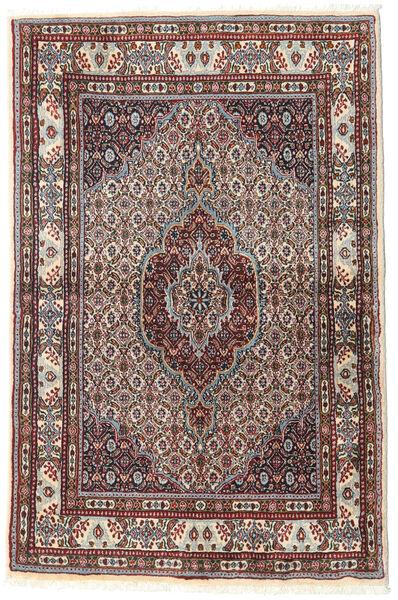 Moud Matto 96X148 Itämainen Käsinsolmittu Tummanpunainen/Tummanruskea (Villa/Silkki, Persia/Iran)