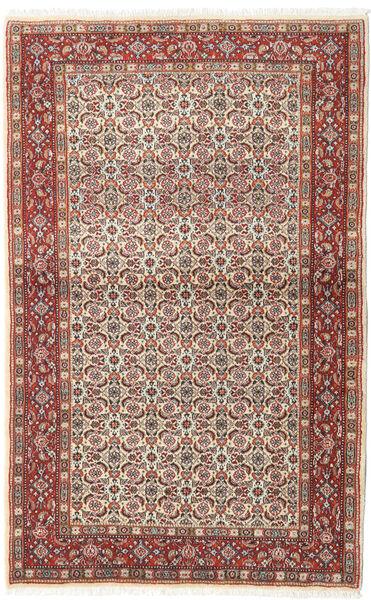 Moud Matto 95X153 Itämainen Käsinsolmittu Tummanruskea/Tummanpunainen (Villa/Silkki, Persia/Iran)