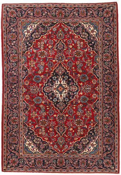 Keshan Matto 140X203 Itämainen Käsinsolmittu Tummanruskea/Tummanpunainen (Villa, Persia/Iran)