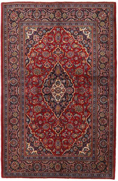 Keshan Matto 143X215 Itämainen Käsinsolmittu Tummanpunainen/Tummanruskea (Villa, Persia/Iran)