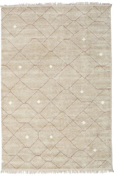 Beni - Beige/Ruskea Matto 160X230 Moderni Käsinsolmittu Vaaleanharmaa ( Intia)