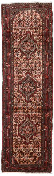 Hosseinabad Matto 83X279 Itämainen Käsinsolmittu Käytävämatto Tummanpunainen/Tummanruskea (Villa, Persia/Iran)