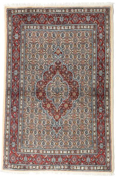 Moud Matto 99X148 Itämainen Käsinsolmittu Vaaleanharmaa/Tummanpunainen (Villa/Silkki, Persia/Iran)