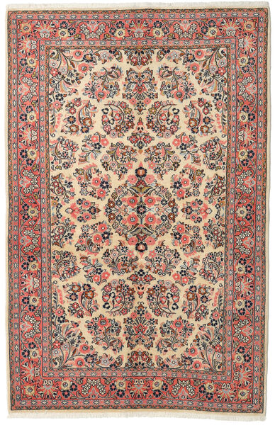 Sarough Matto 132X213 Itämainen Käsinsolmittu Tummanharmaa/Ruskea (Villa, Persia/Iran)