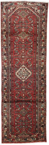 Hamadan Matto 82X262 Itämainen Käsinsolmittu Käytävämatto Tummanpunainen/Tummanruskea (Villa, Persia/Iran)