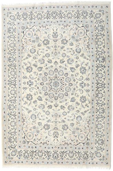 Nain Matto 198X292 Itämainen Käsinsolmittu Vaaleanharmaa/Beige/Tummanbeige (Villa, Persia/Iran)