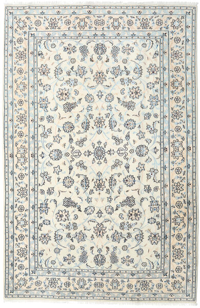 Nain Matto 198X301 Itämainen Käsinsolmittu Beige/Vaaleanharmaa (Villa, Persia/Iran)