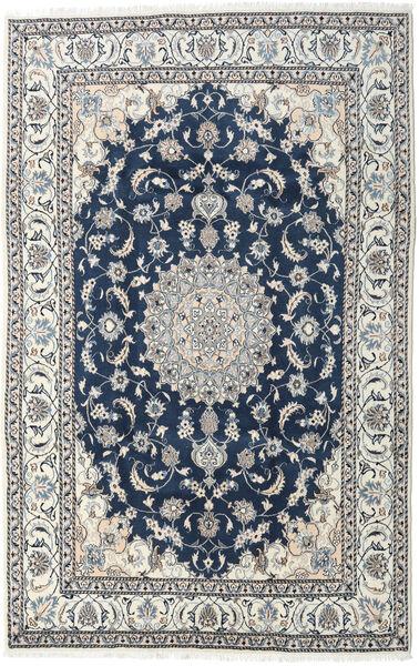 Nain Matto 194X300 Itämainen Käsinsolmittu Vaaleanharmaa/Tummansininen (Villa, Persia/Iran)