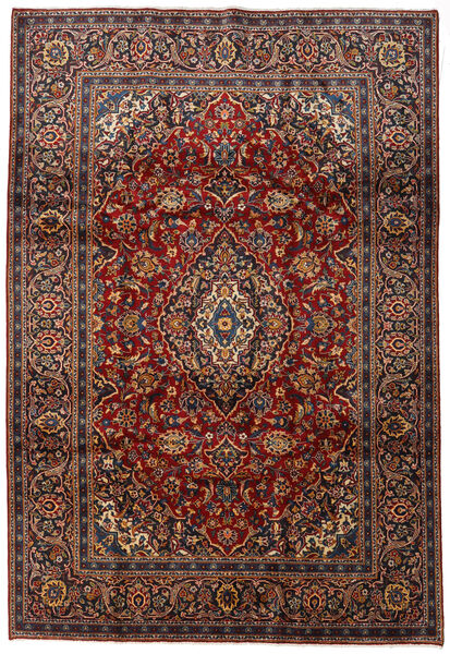 Keshan Matto 212X313 Itämainen Käsinsolmittu Tummanpunainen/Tummanruskea (Villa, Persia/Iran)