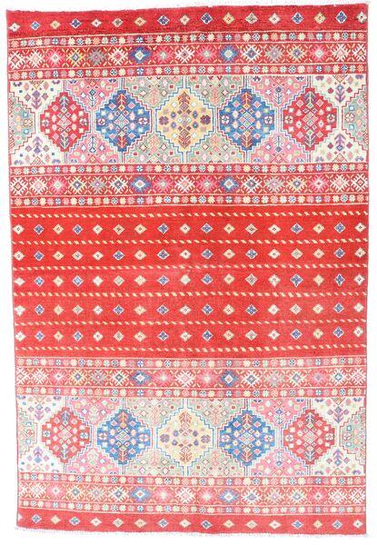 Kazak Matto 121X180 Itämainen Käsinsolmittu Vaaleanpunainen/Punainen (Villa, Afganistan)
