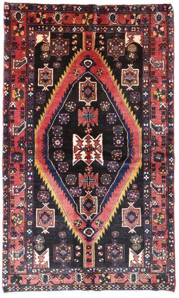 Hamadan Matto 140X222 Itämainen Käsinsolmittu Tummanruskea/Vaaleanpunainen (Villa, Persia/Iran)