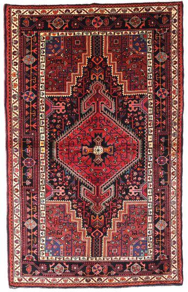 Toiserkan Matto 140X222 Itämainen Käsinsolmittu Tummanpunainen/Ruoste (Villa, Persia/Iran)