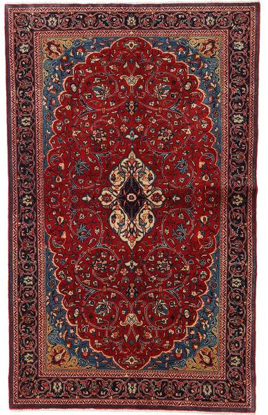 Sarough Matto 130X208 Itämainen Käsinsolmittu Tummanpunainen (Villa, Persia/Iran)