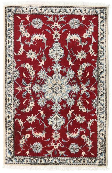 Nain Matto 90X140 Itämainen Käsinsolmittu Beige/Tummanpunainen (Villa, Persia/Iran)