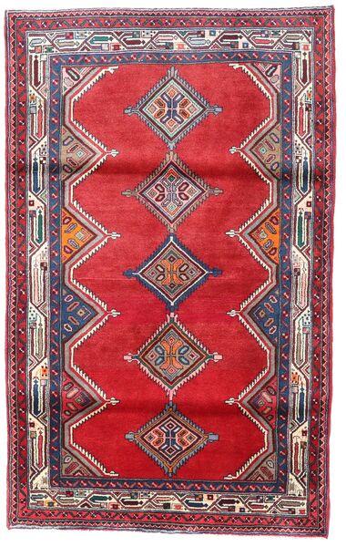 Hosseinabad Matto 113X183 Itämainen Käsinsolmittu Punainen/Tummanvioletti (Villa, Persia/Iran)