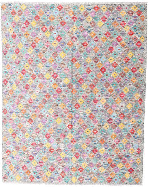 Kelim Afghan Old Style Matto 161X203 Itämainen Käsinkudottu Vaaleanharmaa/Valkoinen/Creme (Villa, Afganistan)