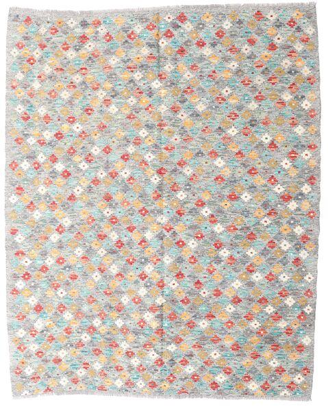 Kelim Afghan Old Style Matto 156X196 Itämainen Käsinkudottu Vaaleanharmaa/Vaaleanpunainen (Villa, Afganistan)