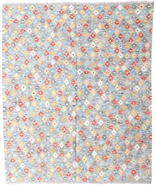 Kelim Afghan Old Style Matto 159X190 Itämainen Käsinkudottu Vaaleanharmaa/Valkoinen/Creme (Villa, Afganistan)