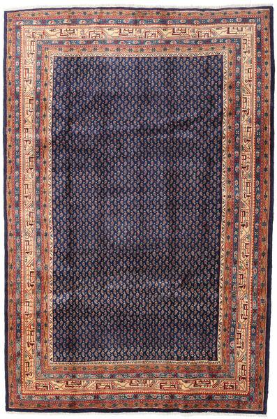 Sarough Mir Matto 215X320 Itämainen Käsinsolmittu Tummanvioletti/Vaaleanruskea (Villa, Persia/Iran)