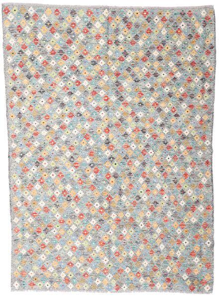 Kelim Afghan Old Style Matto 168X232 Itämainen Käsinkudottu Vaaleanharmaa/Beige (Villa, Afganistan)