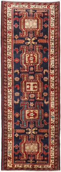 Ardebil Matto 111X318 Itämainen Käsinsolmittu Käytävämatto Tummanpunainen/Musta (Villa, Persia/Iran)