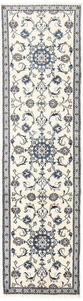 Nain Matto 75X281 Itämainen Käsinsolmittu Käytävämatto Beige/Vaaleanharmaa (Villa, Persia/Iran)