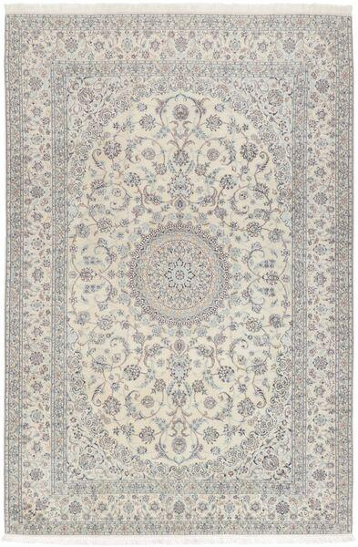 Nain 6La Matto 208X307 Itämainen Käsinsolmittu Vaaleanharmaa/Tummanbeige (Villa/Silkki, Persia/Iran)