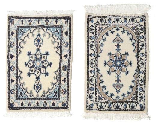 Nain Matto 40X60 Itämainen Käsinsolmittu Vaaleanharmaa/Tummanharmaa/Beige (Villa, Persia/Iran)