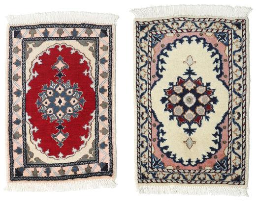 Nain Matto 40X60 Itämainen Käsinsolmittu Vaaleanharmaa/Tummanharmaa (Villa, Persia/Iran)