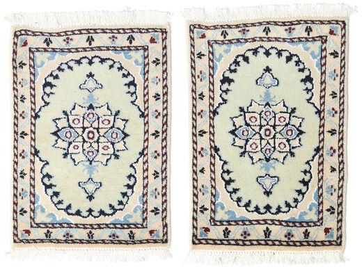 Nain Matto 40X60 Itämainen Käsinsolmittu Beige (Villa, Persia/Iran)