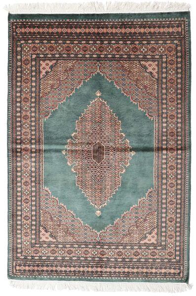 Pakistan Bokhara 3Ply Matto 142X208 Itämainen Käsinsolmittu Tummanharmaa/Valkoinen/Creme (Villa, Pakistan)