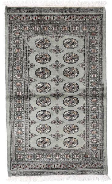 Pakistan Bokhara 2Ply Matto 92X158 Itämainen Käsinsolmittu Tummanharmaa/Vaaleanharmaa (Villa, Pakistan)