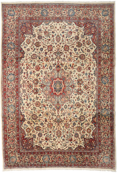 Sarough Matto 256X370 Itämainen Käsinsolmittu Vaaleanruskea/Tummanharmaa Isot (Villa, Persia/Iran)