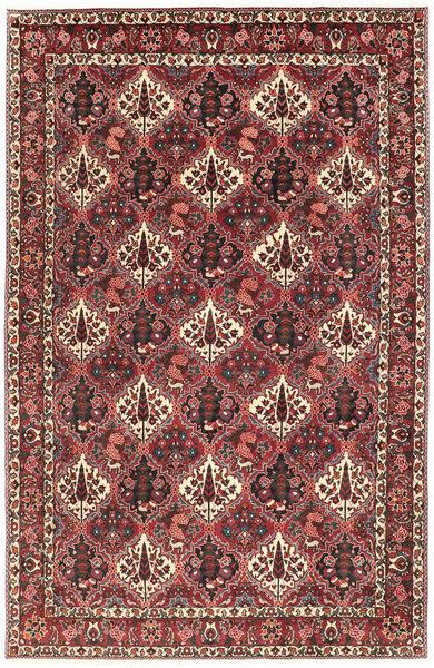 Bakhtiar Matto 200X303 Itämainen Käsinsolmittu Tummanpunainen/Tummanruskea (Villa, Persia/Iran)