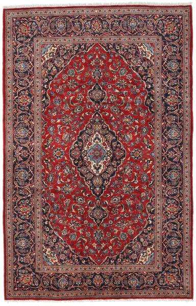 Keshan Matto 196X307 Itämainen Käsinsolmittu Tummanpunainen/Tummanruskea (Villa, Persia/Iran)