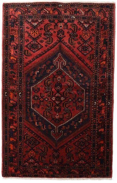 Hamadan Matto 137X215 Itämainen Käsinsolmittu Tummanpunainen (Villa, Persia/Iran)