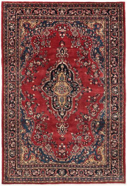 Hamadan Shahrbaf Matto 209X315 Itämainen Käsinsolmittu Tummanpunainen/Tummansininen (Villa, Persia/Iran)