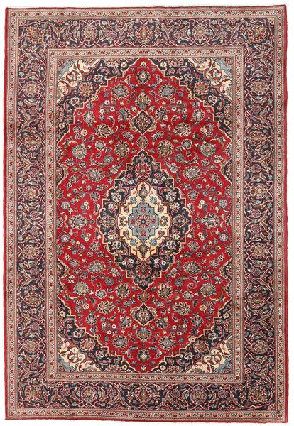 Keshan Matto 198X288 Itämainen Käsinsolmittu Tummanpunainen/Tummanruskea (Villa, Persia/Iran)