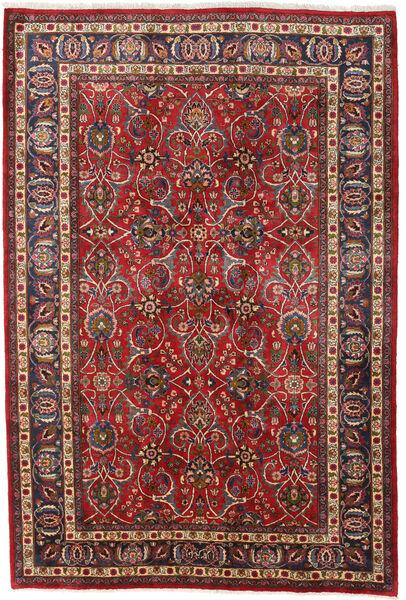Mashad Matto 196X292 Itämainen Käsinsolmittu Tummanpunainen/Tummanruskea (Villa, Persia/Iran)