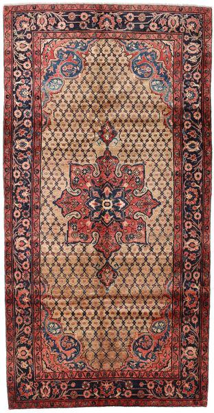 Koliai Matto 151X294 Itämainen Käsinsolmittu Käytävämatto Tummanruskea/Tummanpunainen (Villa, Persia/Iran)