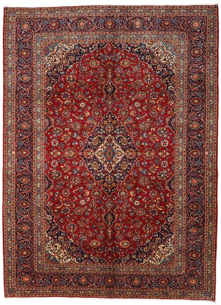 Keshan Matto 295X406 Itämainen Käsinsolmittu Tummanpunainen/Tummanharmaa Isot (Villa, Persia/Iran)