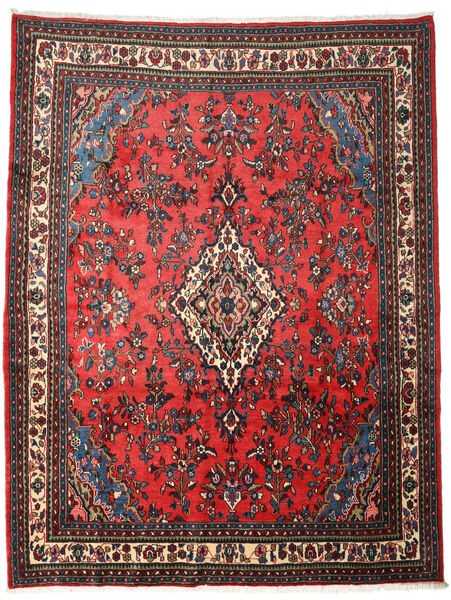 Hamadan Matto 271X354 Itämainen Käsinsolmittu Tummanpunainen/Tummanruskea Isot (Villa, Persia/Iran)