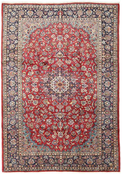 Keshan Matto 230X327 Itämainen Käsinsolmittu Tummanpunainen/Beige (Villa, Persia/Iran)