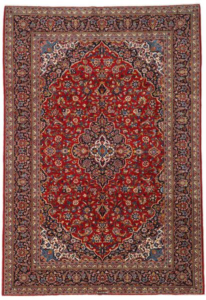 Keshan Matto 239X341 Itämainen Käsinsolmittu Tummanpunainen/Tummanruskea (Villa, Persia/Iran)