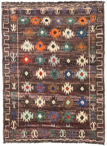 Moroccan Berber - Afghanistan Matto 125X172 Moderni Käsinsolmittu Tummanruskea/Tummanpunainen (Villa, Afganistan)