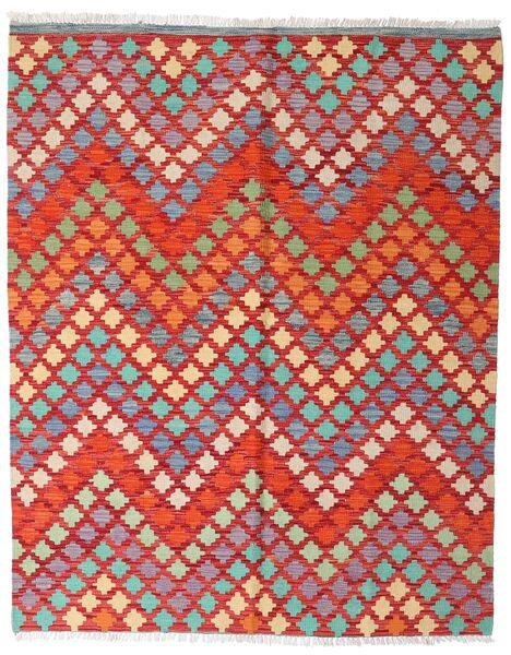 Kelim Afghan Old Style Matto 151X187 Itämainen Käsinkudottu Tummanpunainen/Ruoste (Villa, Afganistan)