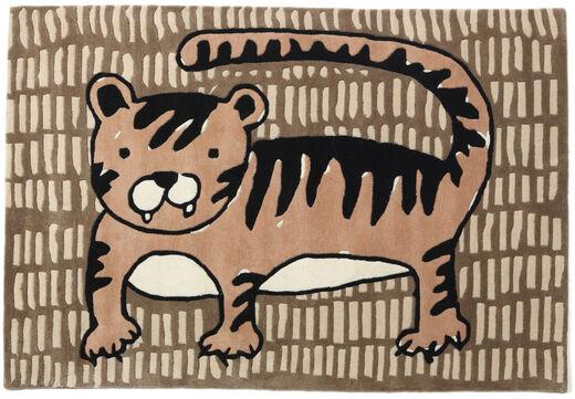 Cool Cat - Beige Matto 120X180 Moderni Ruskea/Vaaleanruskea (Villa, Intia)