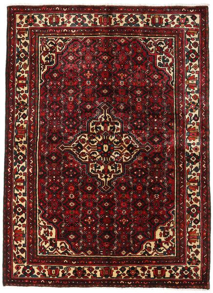 Hosseinabad Matto 153X215 Itämainen Käsinsolmittu Tummanpunainen/Tummanruskea (Villa, Persia/Iran)