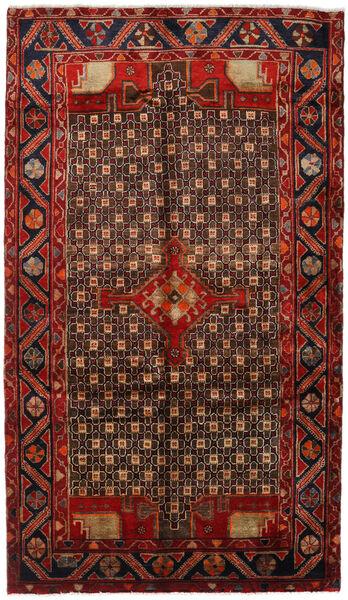 Koliai Matto 150X261 Itämainen Käsinsolmittu Tummanruskea/Tummanpunainen (Villa, Persia/Iran)