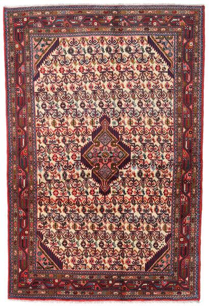 Asadabad Matto 126X190 Itämainen Käsinsolmittu Tummanpunainen/Tummanruskea (Villa, Persia/Iran)